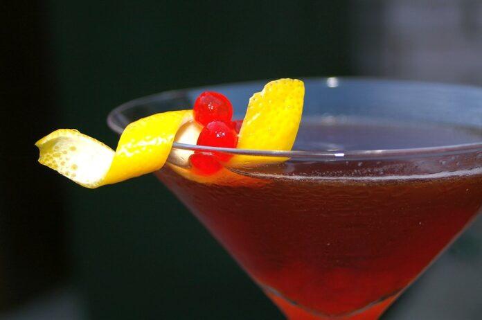 Manhattan cocktail drink